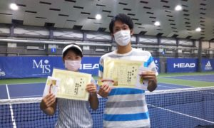 第251回 MTSテニスアリーナ三鷹 ナイターミックスダブルス準優勝:梅田夫妻