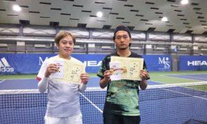 第252回 MTSテニスアリーナ三鷹 ナイター男子ダブルス準優勝:松田・伊藤ペア
