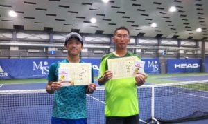 第252回 MTSテニスアリーナ三鷹 ナイター男子ダブルス優勝:河合・小見野ペア