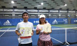 第253回 MTSテニスアリーナ三鷹 ナイターミックスダブルス準優勝:高橋・霜田ペア