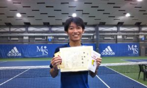 第254回 MTSテニスアリーナ三鷹 ナイター男子シングルス優勝:江森 剛選手