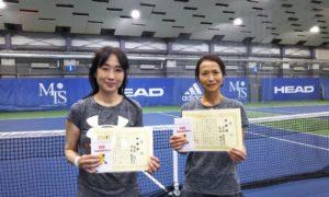 第255回 MTSテニスアリーナ三鷹 ナイター女子ダブルス準優勝:白石・深原ペア