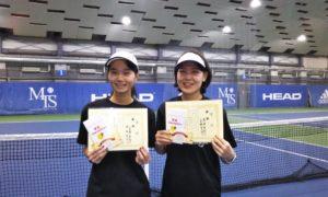 第255回 MTSテニスアリーナ三鷹 ナイター女子ダブルス優勝:小見野・黒田ペア