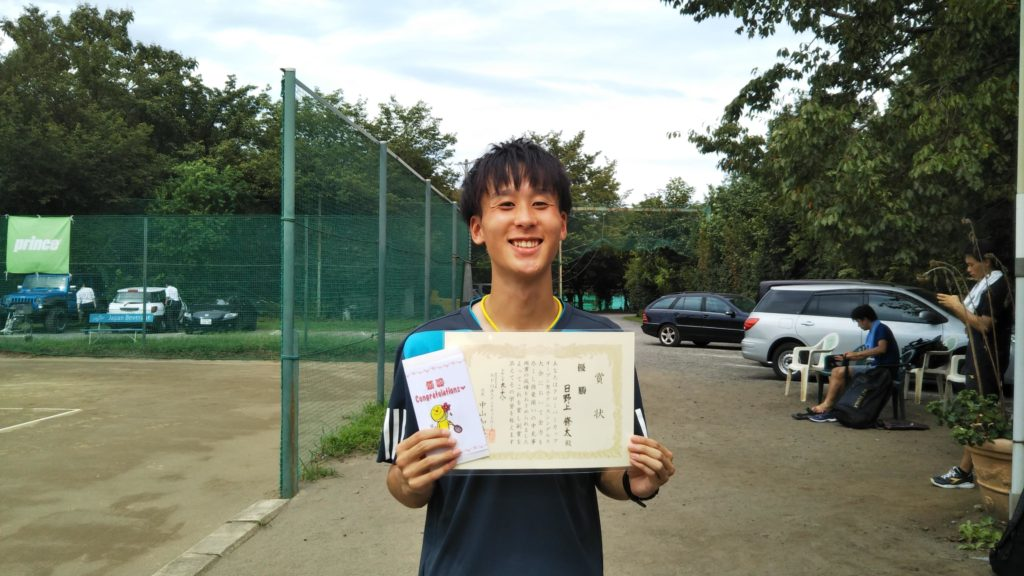 優勝:日野上 修太選手