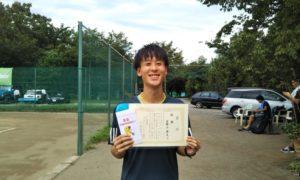 第5回 桜田倶楽部 男子シングルス優勝:日野上 修太選手
