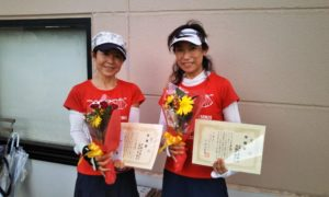 第1589回 緑ヶ丘テニスガーデン 女子ダブルス準優勝:羽根田・冨村ペア