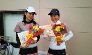 第1589回 緑ヶ丘テニスガーデン 女子ダブルス優勝:櫻田・別所ペア