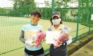 第1590回 百草テニスガーデン 女子ダブルス準優勝:河原・山本ペア