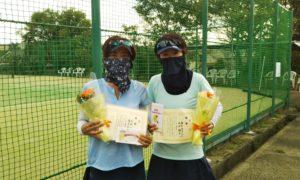 第1590回 百草テニスガーデン 女子ダブルス優勝:石田・藤本ペア