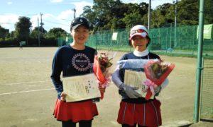第1591回 桜田倶楽部 女子ダブルス準優勝:森下・遠藤ペア
