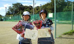 第1591回 桜田倶楽部 女子ダブルス優勝:永井・村井ペア