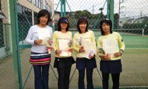 第1592回 緑ヶ丘テニスガーデン 女子チーム戦準優勝:春山・高谷・岡西・殿岡チーム