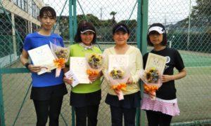 第1592回 緑ヶ丘テニスガーデン 女子チーム戦優勝:小林・小見野・山田・三重野チーム