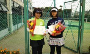 第1597回 緑ヶ丘テニスガーデン 女子ダブルス準優勝:小見野・三重野ペア