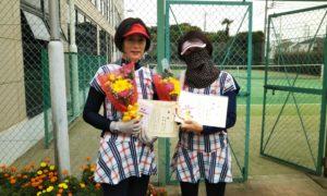 第1597回 緑ヶ丘テニスガーデン 女子ダブルス優勝:千葉・田中ペア