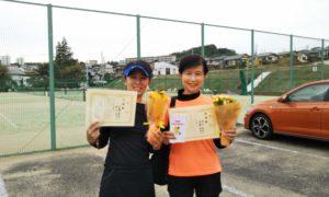 第1598回 百草テニスガーデン 女子ダブルス準優勝:近藤・秋山ペア