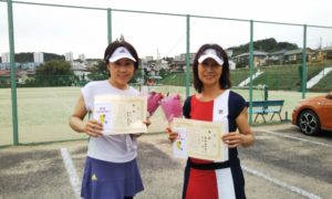 第1598回 百草テニスガーデン 女子ダブルス優勝:中川・新関ペア