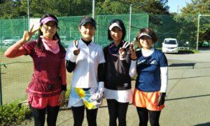 第1599回 桜田倶楽部 女子チーム戦優勝:長谷川・佐光・西島・三澤チーム