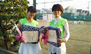 第1601回 関町ローンテニスクラブ 女子ダブルス 準優勝:澤井・高崎ペア