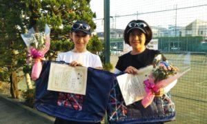 第1601回 関町ローンテニスクラブ 女子ダブルス 優勝:吉村・渡辺ペア