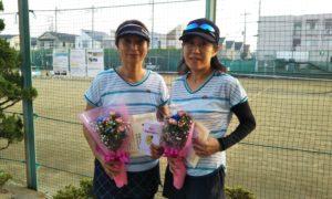 第1602回 関町ローンテニスクラブ 女子ダブルス準優勝:髙野・西村ペア