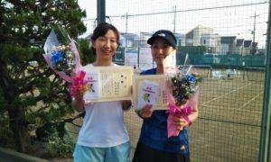 第1602回 関町ローンテニスクラブ 女子ダブルス優勝:河本・木村ペア