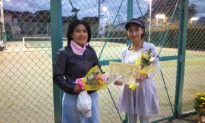 第1603回 緑ヶ丘テニスガーデン 女子ダブルス準優勝:馬場・横山ペア