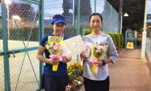 第1603回 緑ヶ丘テニスガーデン 女子ダブルス優勝:田邉・中川ペア