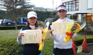 第1604回 緑ヶ丘テニスガーデン 女子ダブルス準優勝:金子・森田ペア