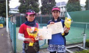 第1604回 緑ヶ丘テニスガーデン 女子ダブルス優勝:和田・原田ペア