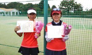 第1605回 百草テニスガーデン 女子ダブルス準優勝:上西・古市ペア