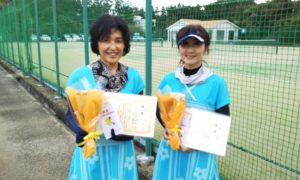 第1605回 百草テニスガーデン 女子ダブルス優勝:小田・溝口ペア