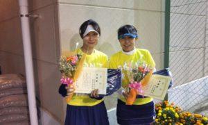 第1609回 緑ヶ丘テニスガーデン 女子ダブルス準優勝:中台・両角ペア
