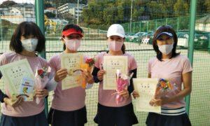 第1611回 百草テニスガーデン 女子チーム戦準優勝:吉田・石井・浅野・岡西チーム