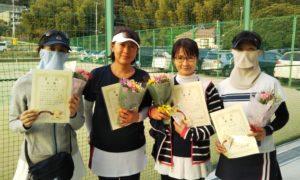 第1611回 百草テニスガーデン 女子チーム戦優勝:丸茂・田川・澤田・冨山チーム