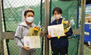 第1613回 関町ローンテニスクラブ 女子ダブルス準優勝:奥野・前川ペア