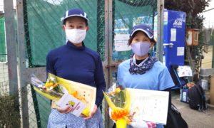 第1614回 関町ローンテニスクラブ 女子ダブルス準優勝:長妻・左近允ペア