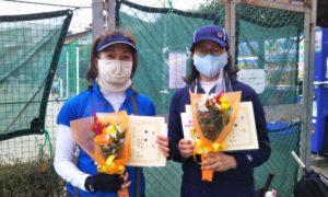 第1614回 関町ローンテニスクラブ 女子ダブルス優勝:真田・佐田ペア