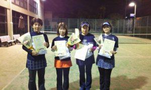第1616回 緑ヶ丘テニスガーデン 女子チーム戦準優勝:長谷川・橋本・山本・宮本チーム