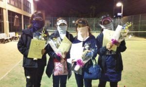第1616回 緑ヶ丘テニスガーデン 女子チーム戦優勝:松本・青木・冨村・今井チーム