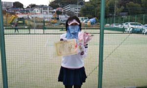第1617回 百草テニスガーデン 女子ダブルス準優勝:田中・岩崎ペア