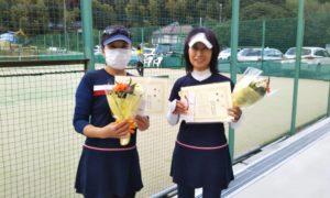 第1617回 百草テニスガーデン 女子ダブルス優勝:関谷・新関ペア