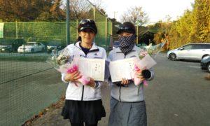 第1618回 桜田倶楽部 女子ダブルス準優勝:古川・木村ペア