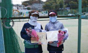 第1622回 百草テニスガーデン 女子ダブルス準優勝:川北・阿部ペア