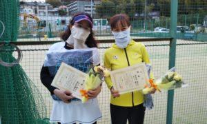第1622回 百草テニスガーデン 女子ダブルス優勝:井上・津波古ペア