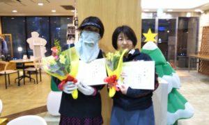 第1624回 緑ヶ丘テニスガーデン 女子ダブルス準優勝:垣屋・山田ペア