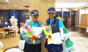 第1624回 緑ヶ丘テニスガーデン 女子ダブルス優勝:高津・松浦ペア