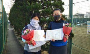 第1626回 関町ローンテニスクラブ 女子ダブルス準優勝:神津・新井ペア