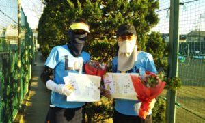 第1627回 関町ローンテニスクラブ 女子ダブルス準優勝:柴山・横田ペア