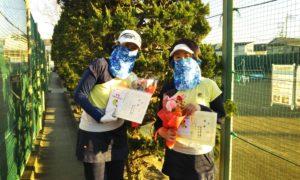第1627回 関町ローンテニスクラブ 女子ダブルス優勝:竹中・岩田ペア